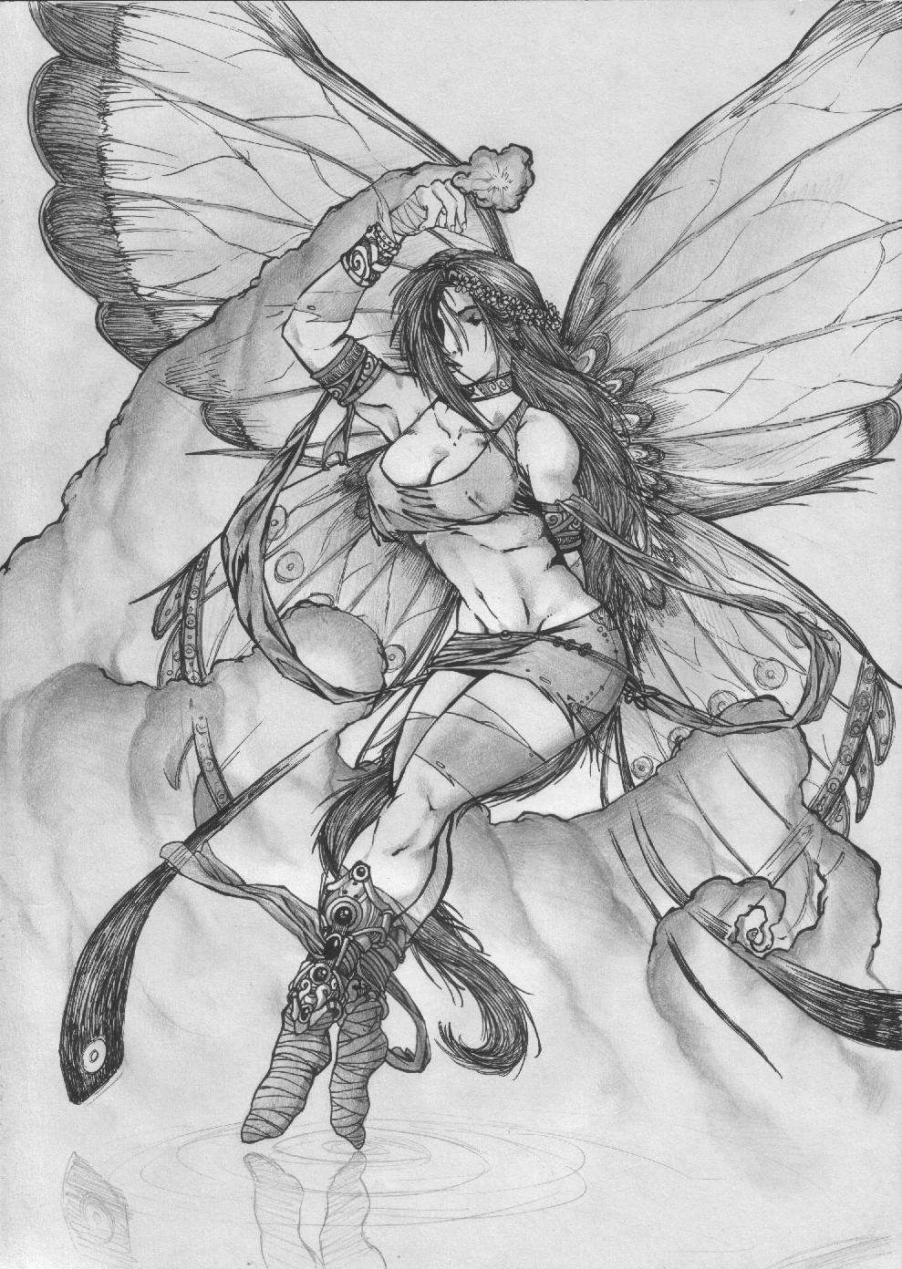 Fairy Pencil Drawings