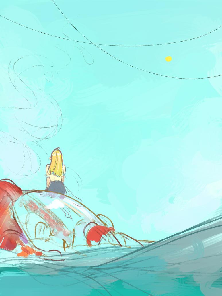 Crash Landing by letrangechat