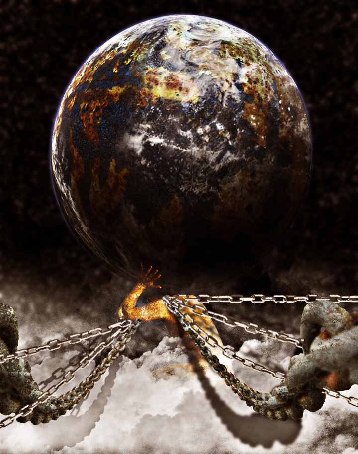 Atlas holding the world by dk-grizzly on DeviantArt