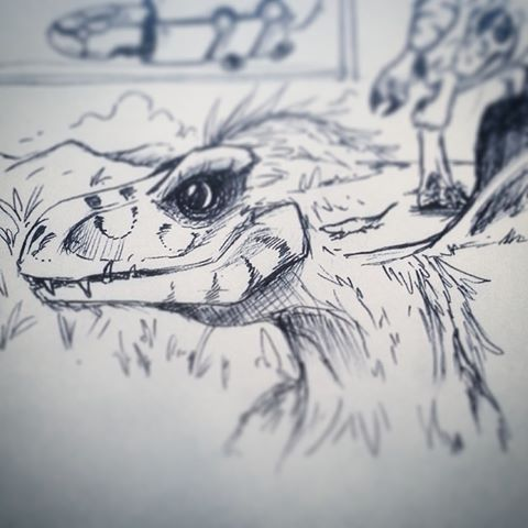 Dino doodle by pepevargas
