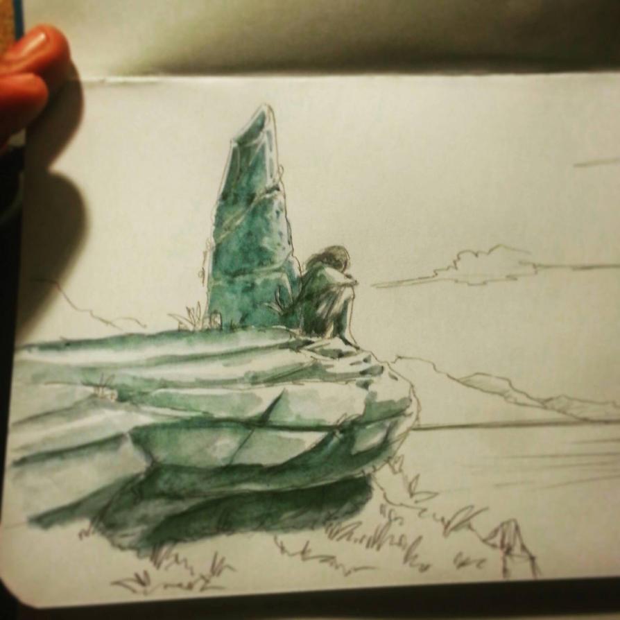 watercolor WIP by pepevargas