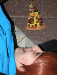 Sculpey pizza by LadyNyneave