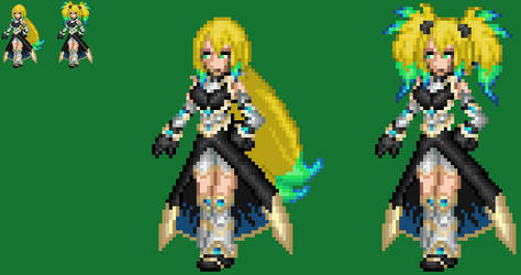 Cyber Knight Ivory No armor by axem-slayer-345