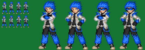 Cyber Knight Azul No armor by axem-slayer-345