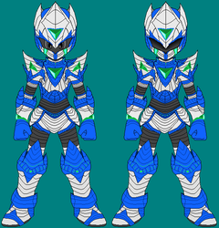 Cyber Knight Justice full frontal view