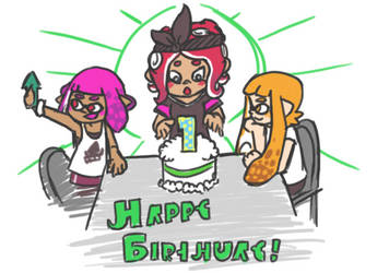 Splatoon 2 - Happy Bday Octo Expansion [Doodle] by Kitisplode