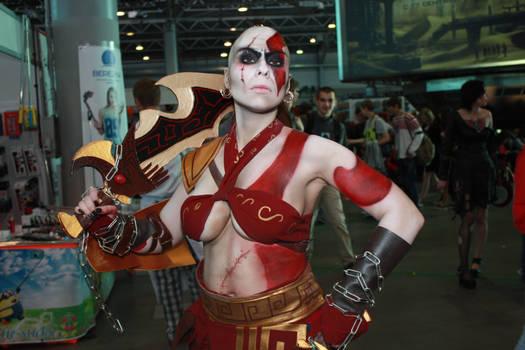 Kratos female cosplay Starcon Spb