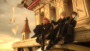 Kingdom Hearts 3D DDD: Axel, Roxas, Xion
