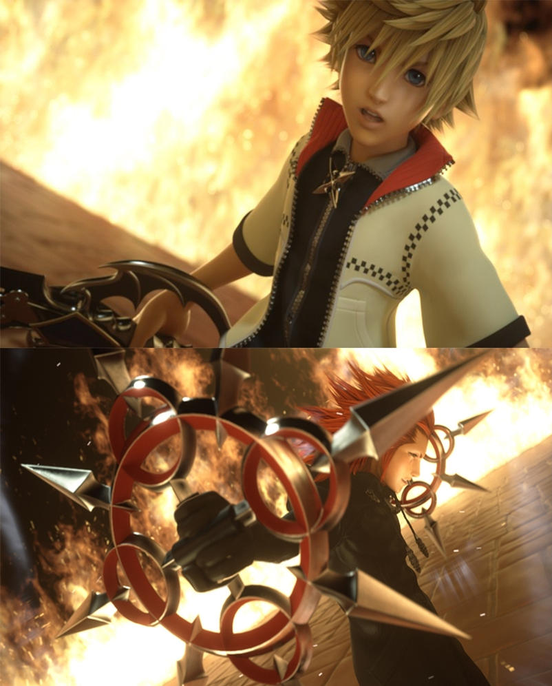 Kingdom hearts dream drop distance roxas and axel by - Kingdom hearts roxas images ...