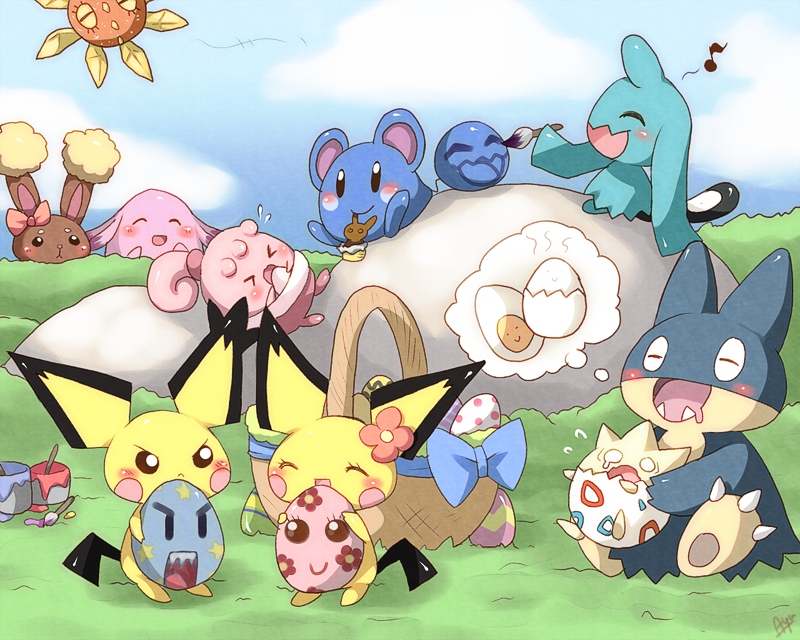 pokemon easter by Moorina