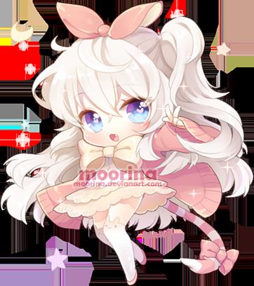 Fluffy Chibi by Moorina