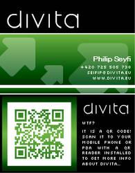 divita business card - green by seifip