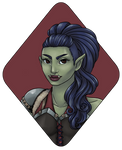 Character Portrait : Thistle the Half-Orc