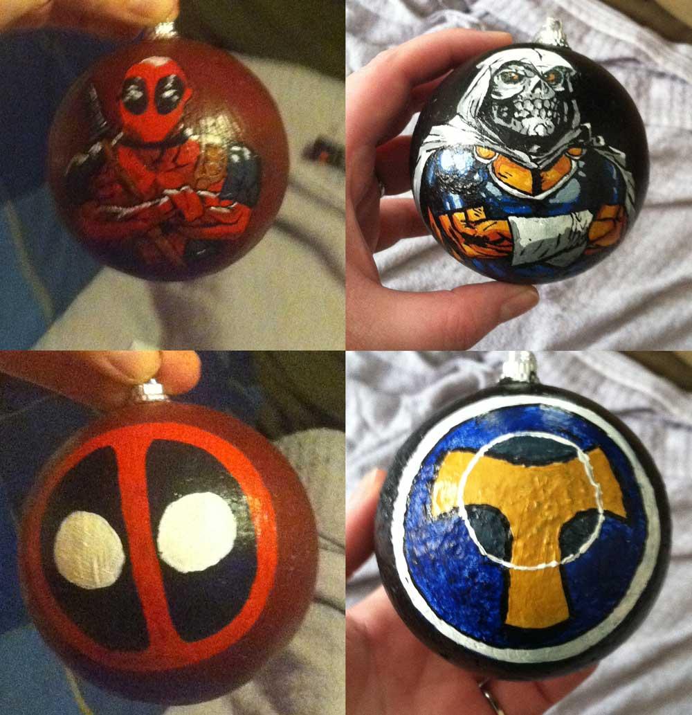 Deadpool and Taskmaster Christmas Ornaments by Alchemistress666 on ...