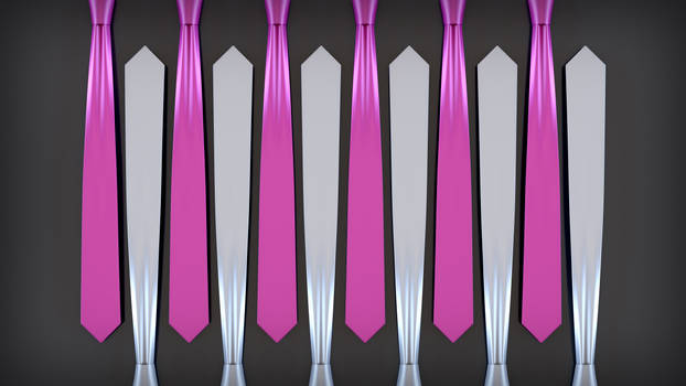 Pink and White Ties Top