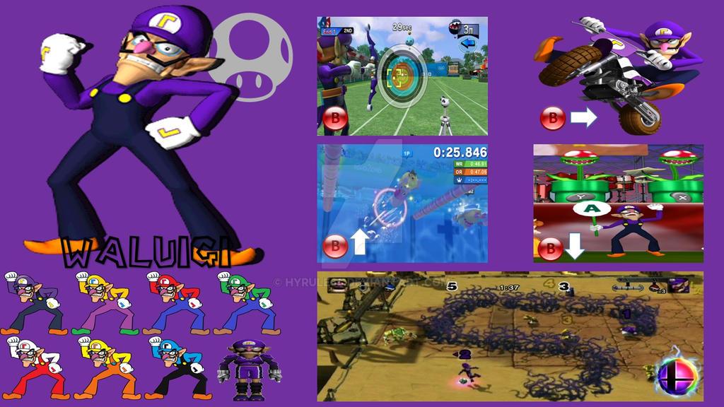 Waluigi Super Smash Bros  Moveset (Updated) by Hyrule64 on