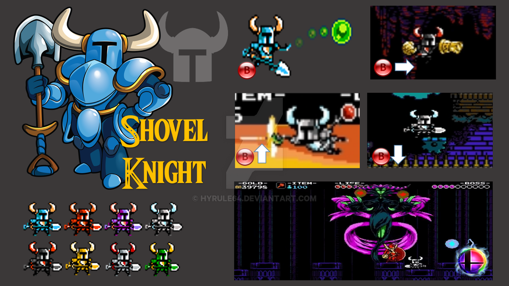 Shovel Knight (Revamped) Super Smash Bros Moveset by Hyrule64 on
