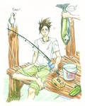 Iruka fishing... by ovolon