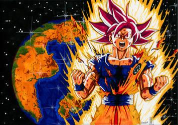 Super Saiyajin God Goku Micromania contest by Nostal