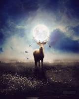 Moonlight Deer by Jchandekar
