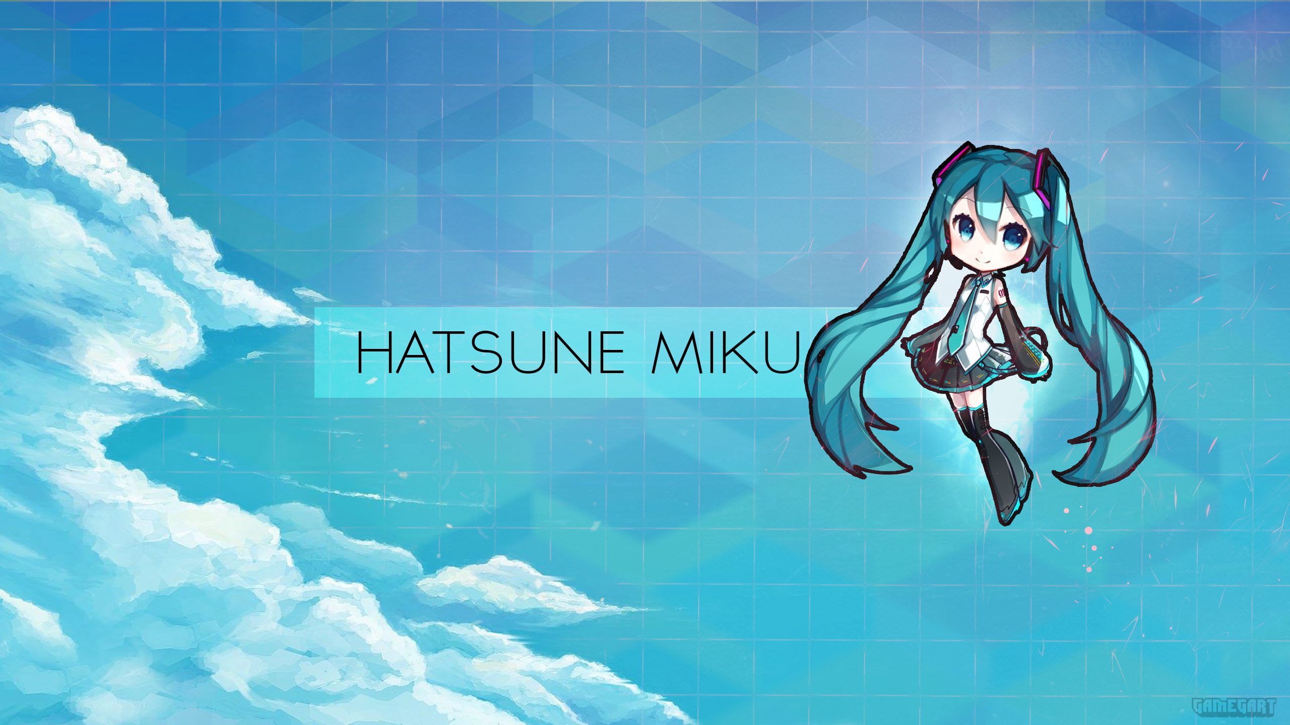 Hatsune Miku Chibi | Wallpaper by Gamegart on DeviantArt Hatsune Miku Chibi Wallpaper