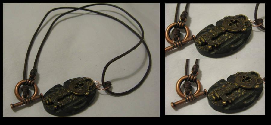 Steampunk Necklace - Key by linderel