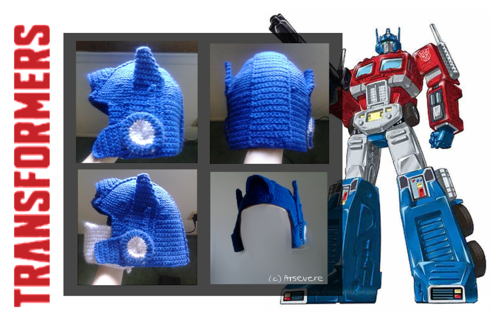 Crochet Pattern For Optimus Prime Hat : Optimus Prime Crocheted Hat by Arsevere on DeviantArt