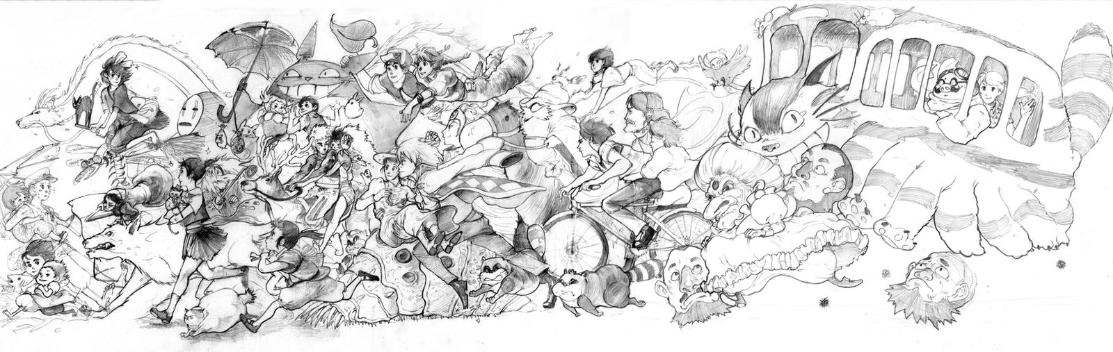 Studio Ghibli 50 by juliakrase