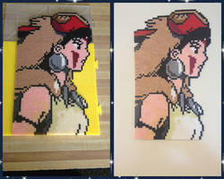 Princess Monoke Perler Bead Art by jnjfranklin