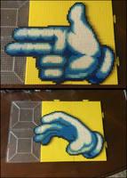 Master Hand Perler Sprites by jnjfranklin