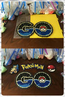 Pokemon Go Logo Perler Bead by jnjfranklin