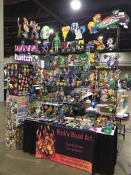 MomoCon 2018 Perler Bead Artist Alley Table