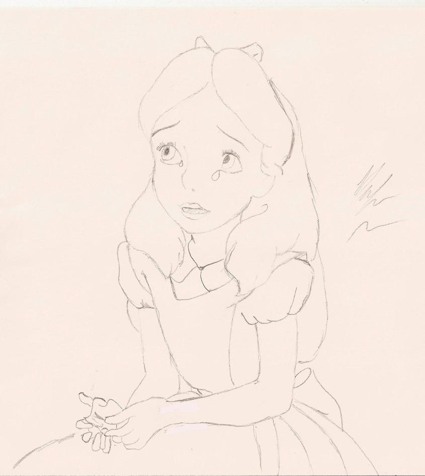Alice In Wonderland Crying: Crying Alice By Downtherabbithhole On DeviantArt