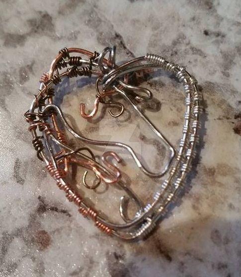 Horse Heart Pendant by ChristinasWerkstatt