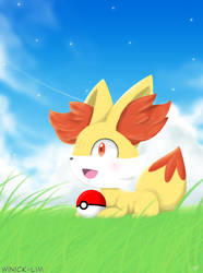 Having fun with Fennekin