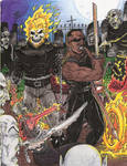 Ghost Rider and Blade