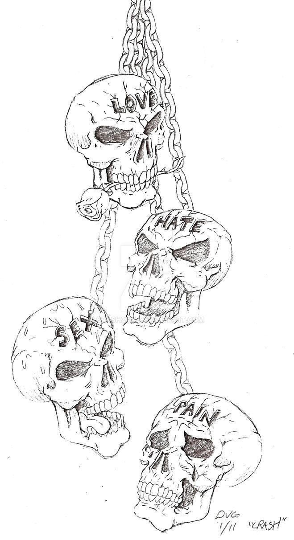 Tattoo Design Skulls By Crash2014 On Deviantart