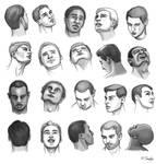 Heads At Angles - Men