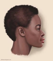 Woman profile by JeffSearle
