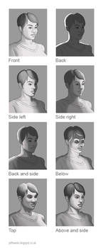 Lighting the head studies by JeffSearle