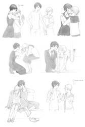 Aoi Hana sketches by kitten-chan