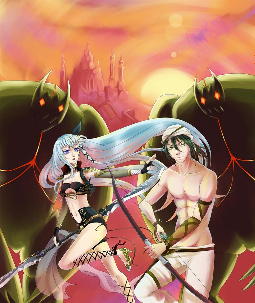 MS Collab: Golem Assault by DragonfaeryYume