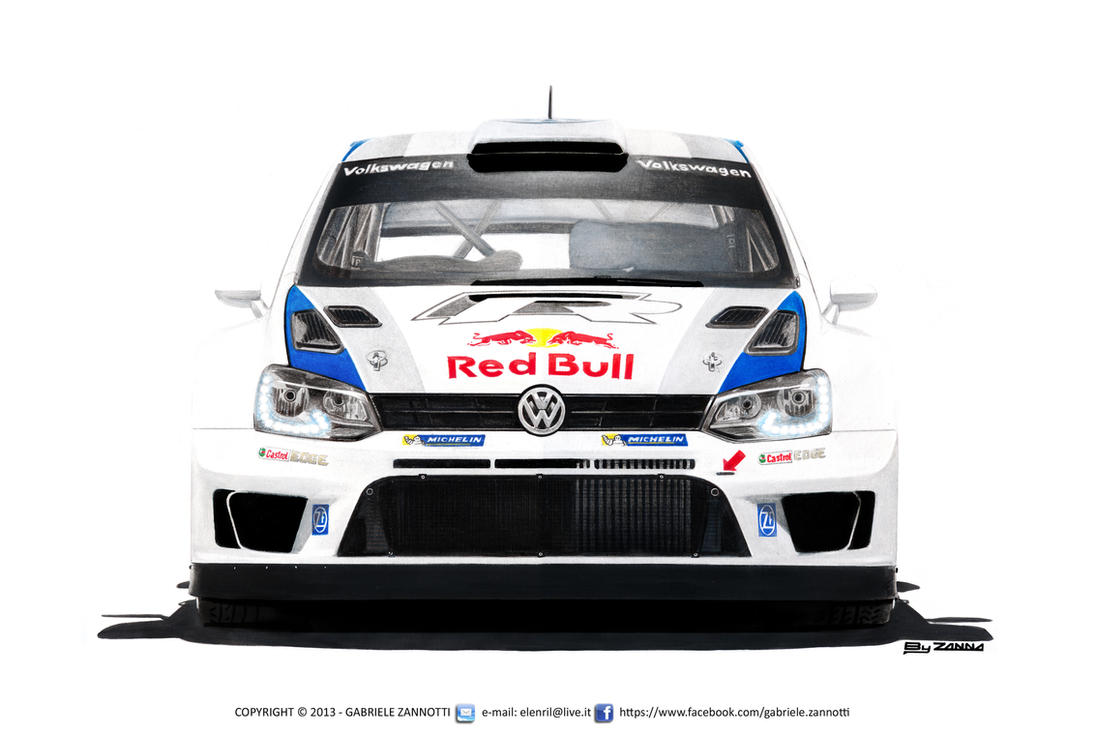volkswagen polo r wrc red bull 2013 by gabrielezannotti on deviantart. Black Bedroom Furniture Sets. Home Design Ideas
