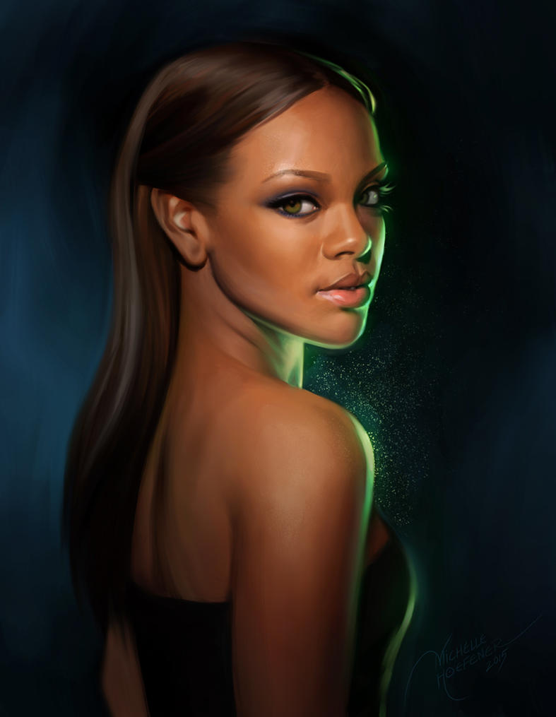 Rihanna Portrait by MichelleHoefener