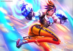 TRACER - 21 Days of Overwatch by MichelleHoefener