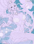 The White Pearl Of The Sea - Line Art
