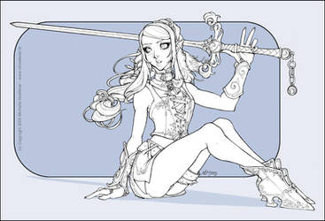 Iris - Line Art 2 by MichelleHoefener