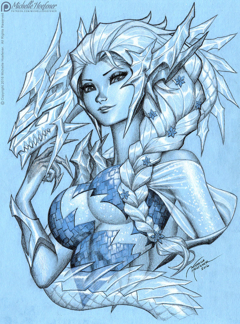 ELSA Ice Dragon by MichelleHoefener on DeviantArt
