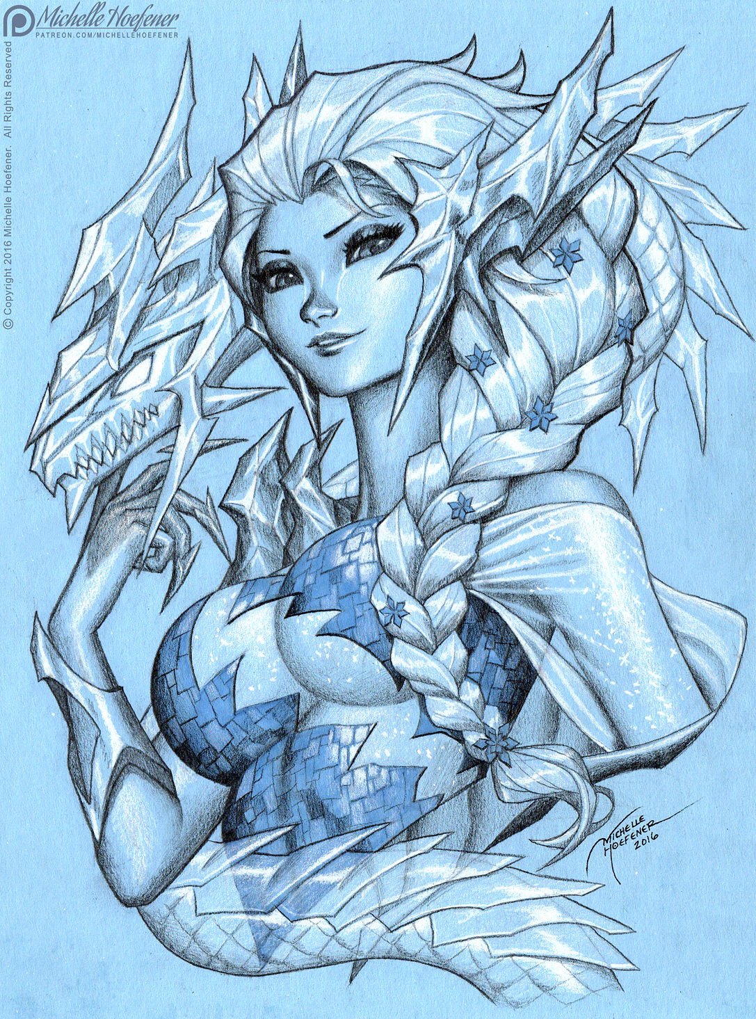drawings of ice dragons