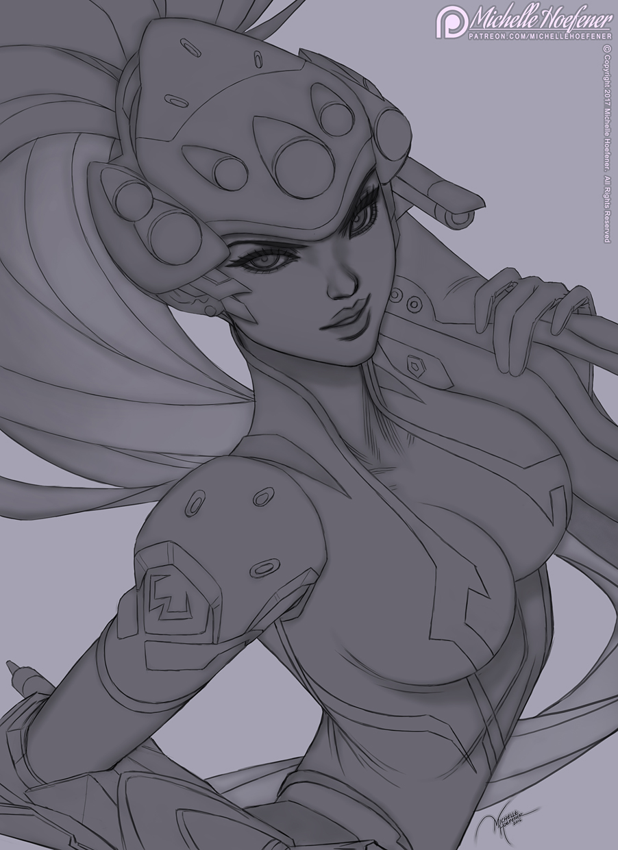 Line Drawing Maker : Widowmaker line art by michellehoefener on deviantart